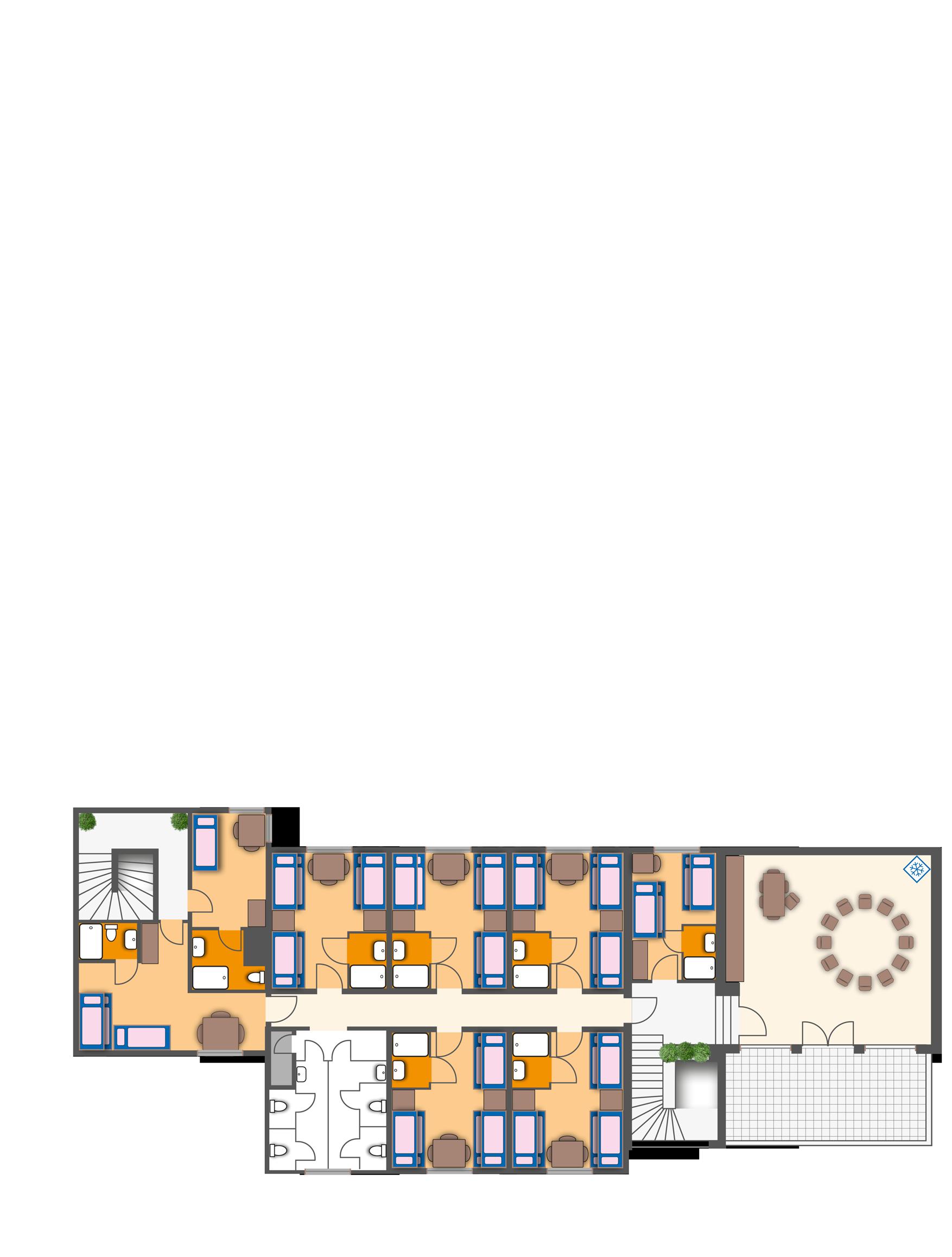 Das 1. Obergeschoss