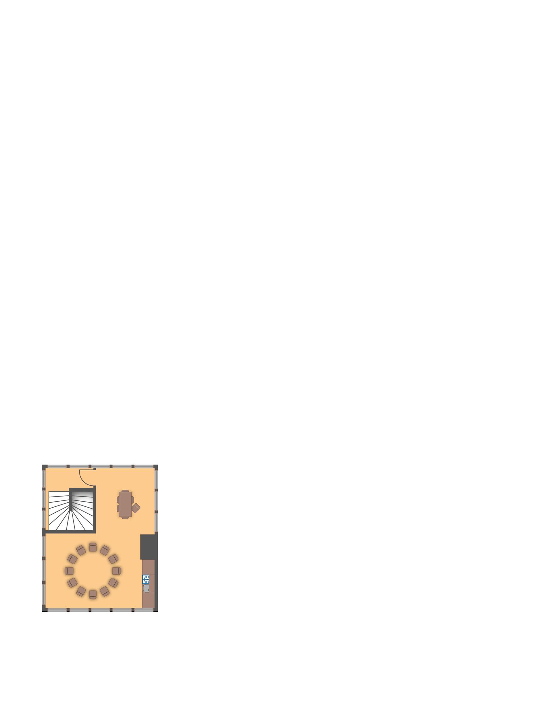 Das 2. Obergeschoss